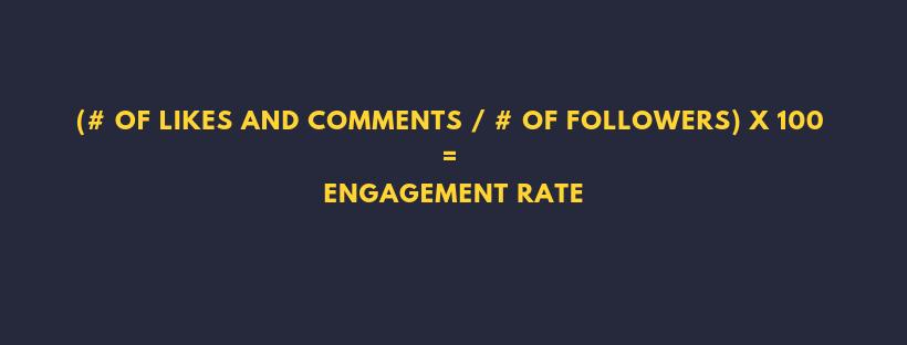 engagement rate formula